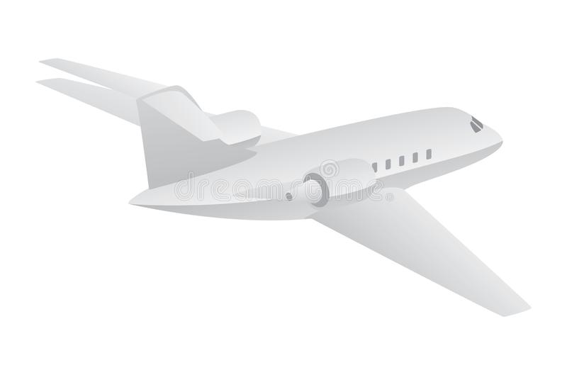 Small Private Jet Aircraft Flying Isolated Vector Illustration royalty free stock photo
