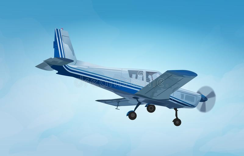 Small private plane vector illustration