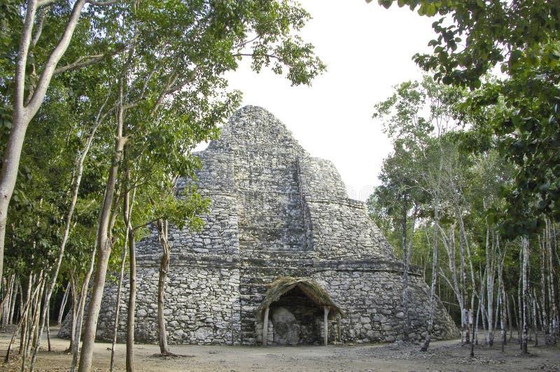 Small pyramid Coba stock photos