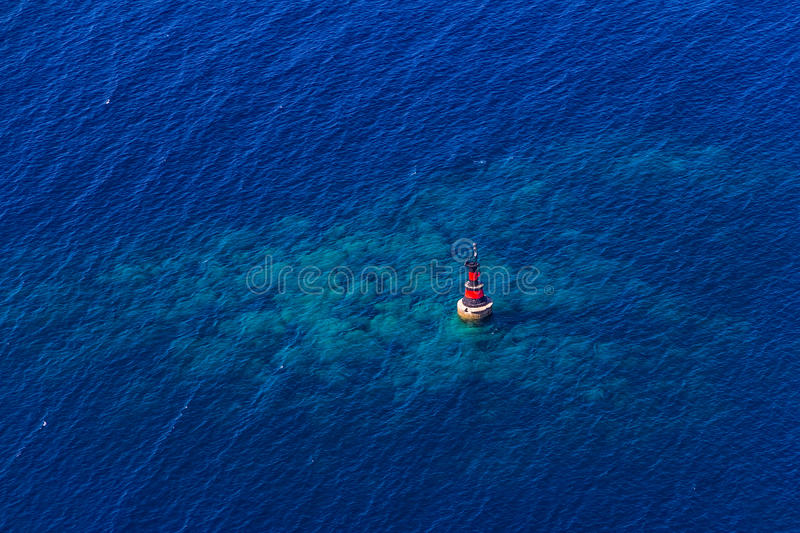 Download Small red beacon stock photo. Image of rock, europe, dalmatia - 26549086
