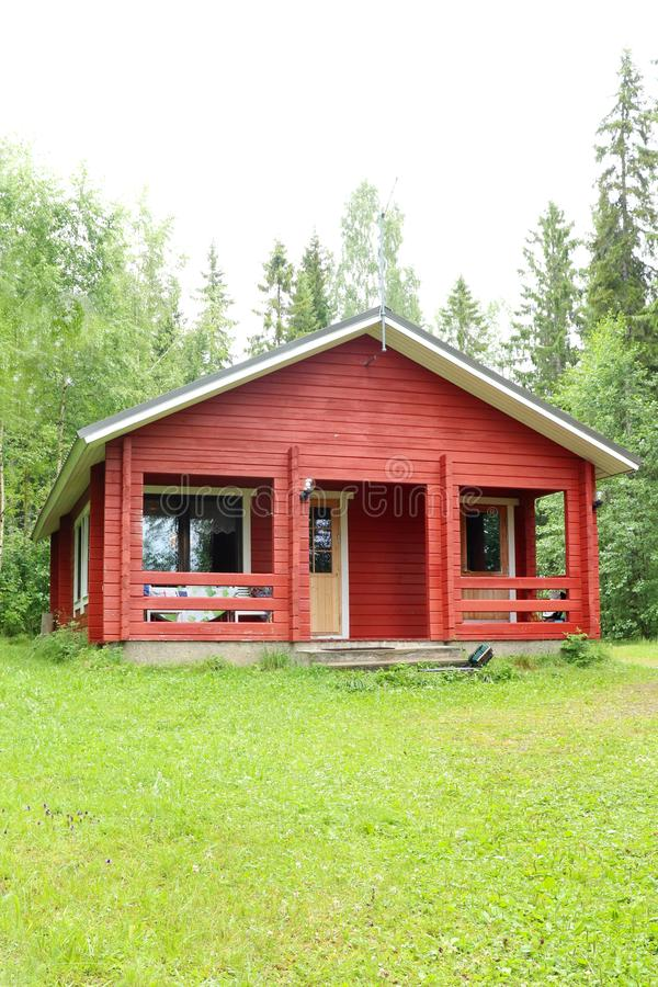 Cabin in northern Finland royalty free stock photography