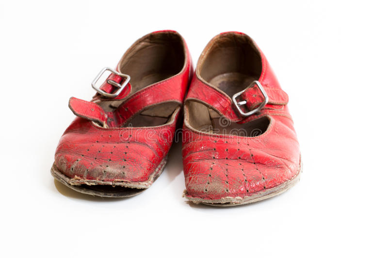 Download Small red shoes stock photo. Image of worn, messy, rough - 24559706