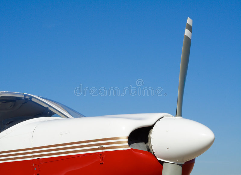 Small Red & White Aircraft royalty free stock photography