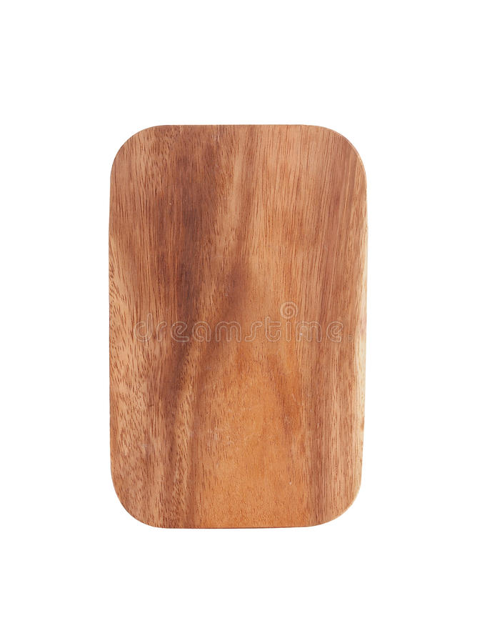 Small red wooden tray. On white background royalty free stock image