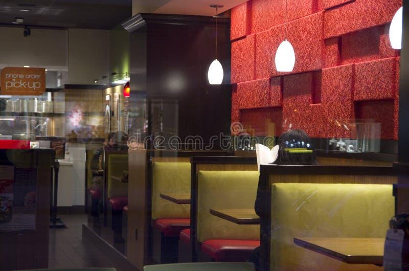 Small restaurant interiors royalty free stock photography