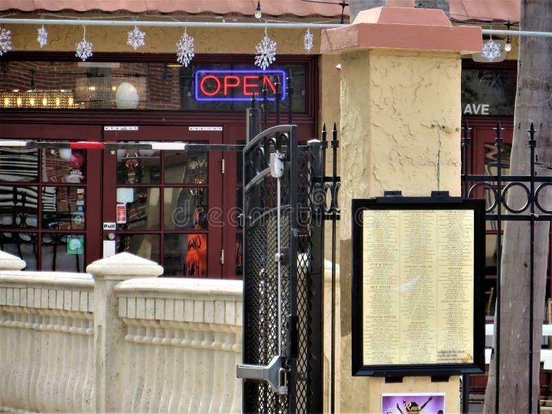 Restaurant, Ybor City, Tampa royalty free stock photo