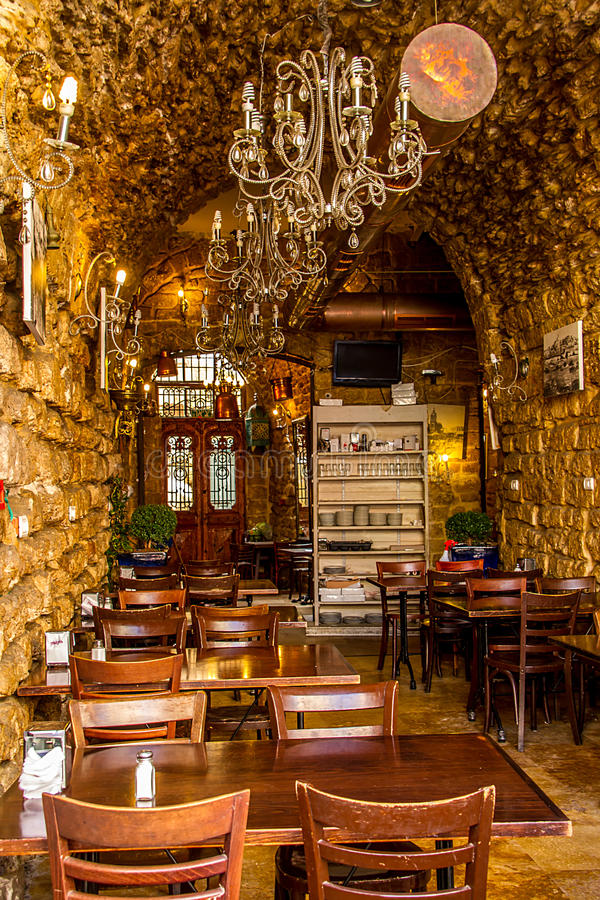 Download Small Restaurant In Old Jaffa Stock Image