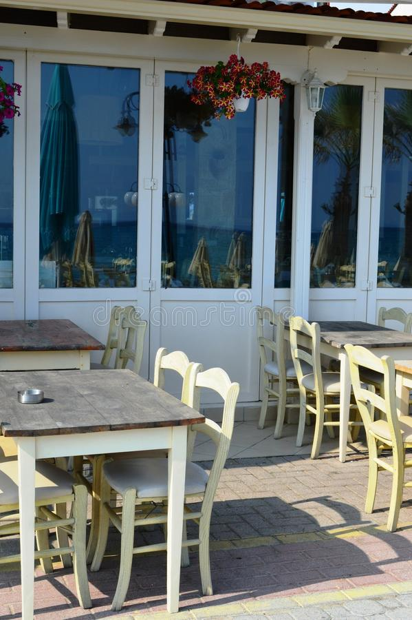 Small restaurant on the sea. A small restaurant on the sea royalty free stock images