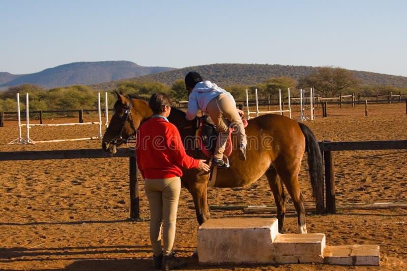 Small rider royalty free stock photo