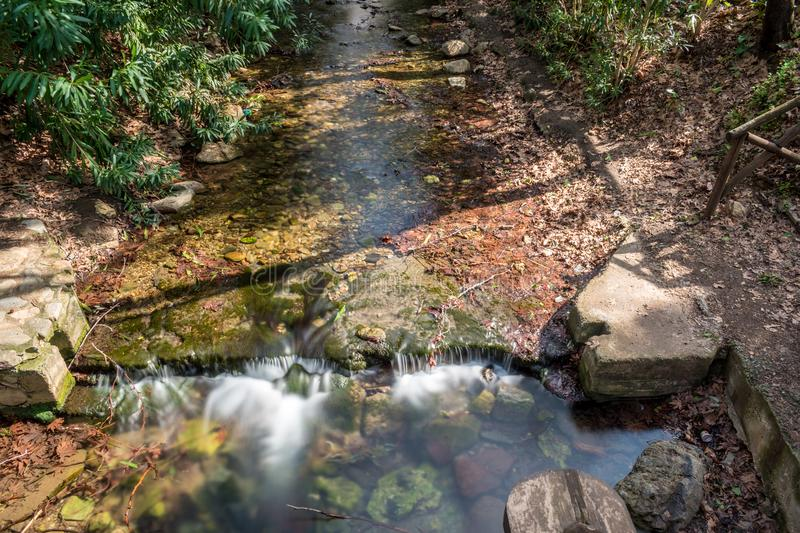 The small river in Fodele Crete Greece stock photography