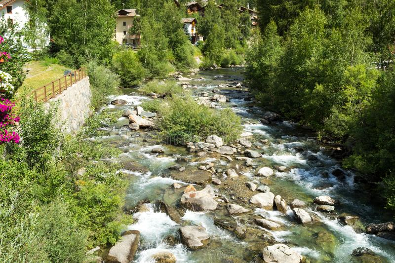 Small river in the mountain royalty free stock photography