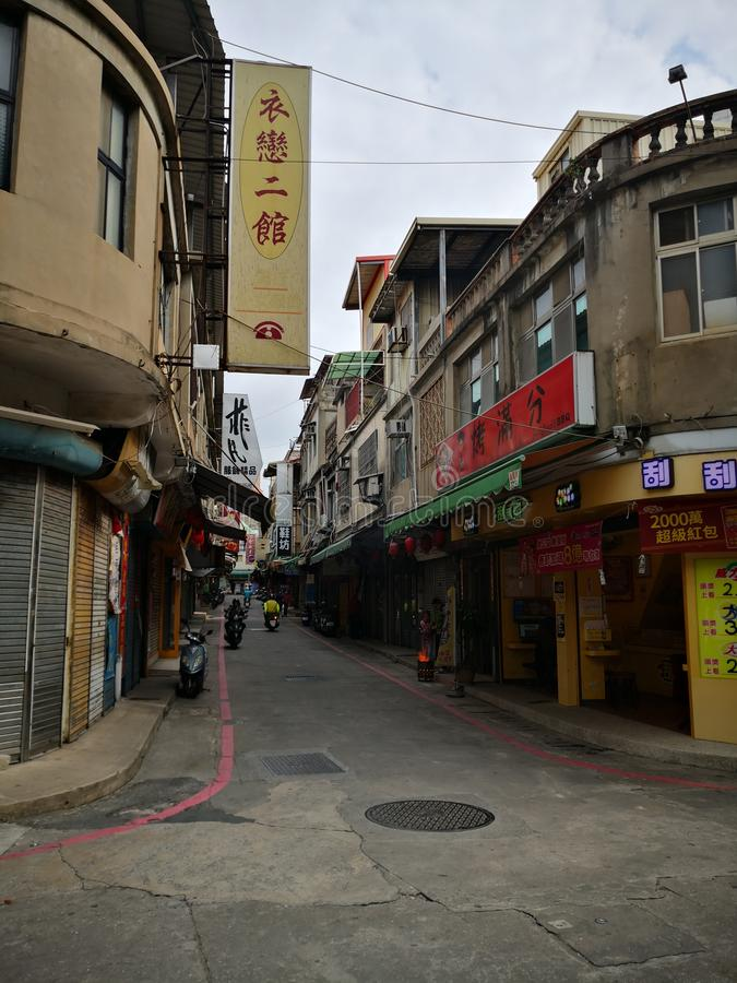 Small road in Jinmen Country, Taiwan stock images