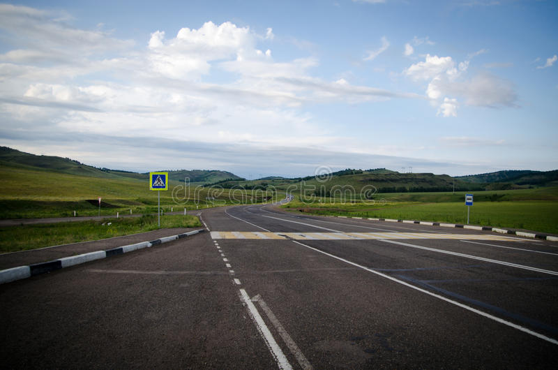 Small roads in Russia royalty free stock photo