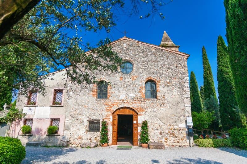 Church of San Pietro in Mavino in Sirmione royalty free stock photography