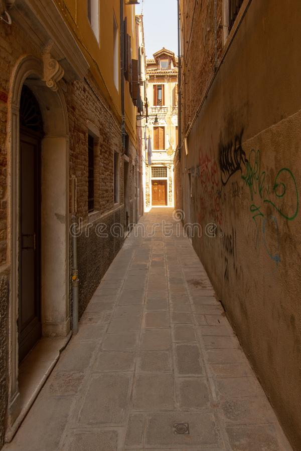 A small alley in Venice stock photo