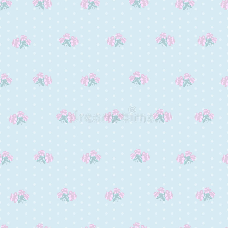 Small roses seamless pattern royalty free illustration