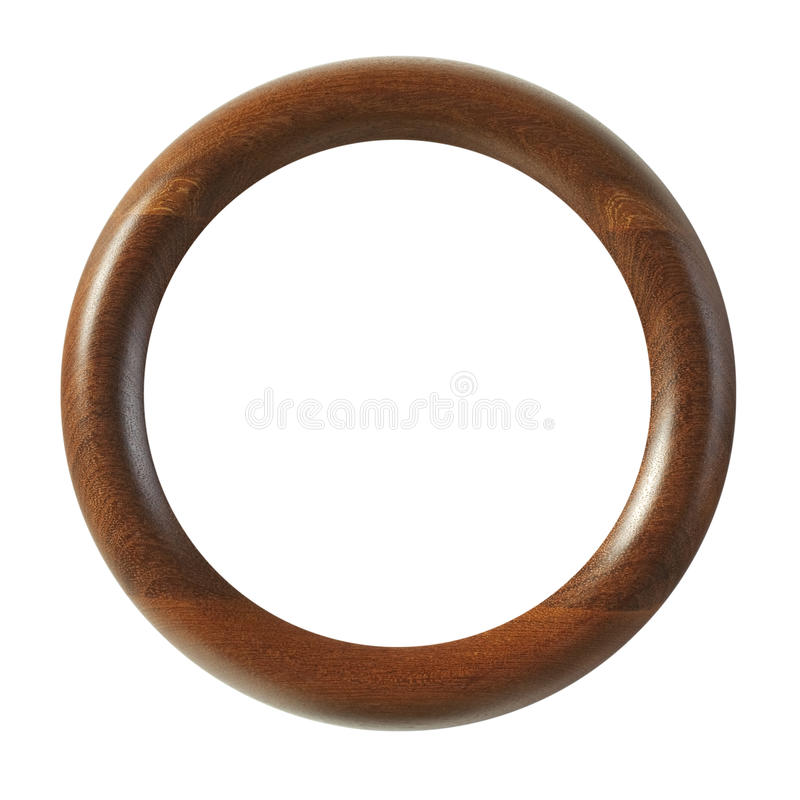 Small Round Wood Frame royalty free stock photography