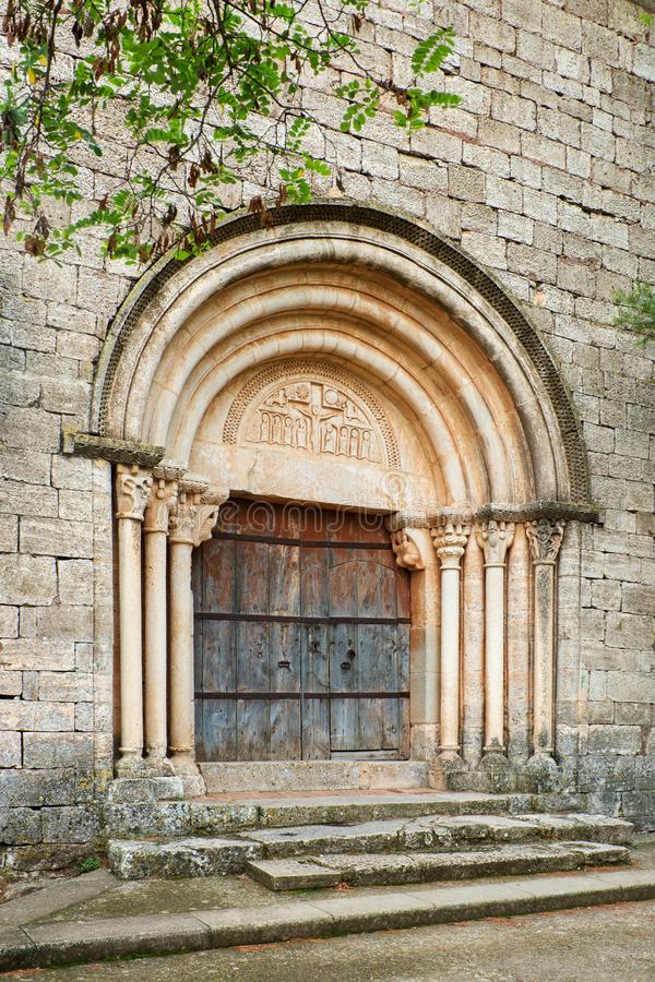 A small rural church of Siurana. A highland village of the municipality of the Cornudella de Montsant in the comarca of Priorat, Tarragona, Catalonia, Spain stock photography