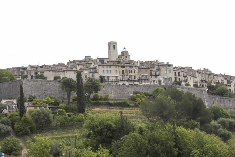 Small rural village of Saint Paul de Vence, in the South of France stock photography