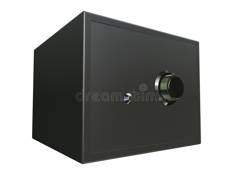 Small safe. 3d rendered small black safe royalty free illustration