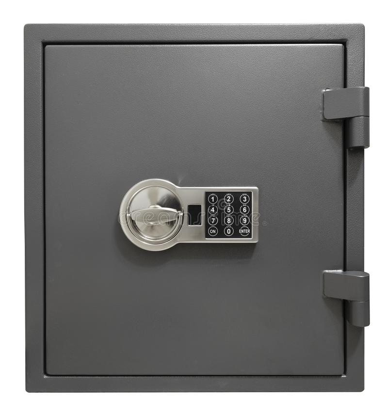 Small safe box isolated with clipping path included royalty free stock photography