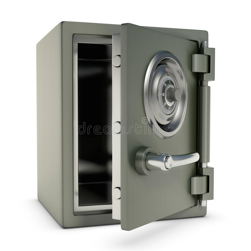 Download Small Safe Open stock illustration. Image of titanium - 24137617