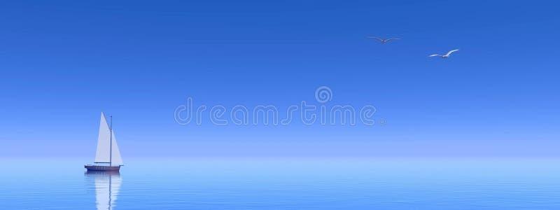 Download Small Sail Boat - 3D Render Stock Illustration - Illustration: 29389881