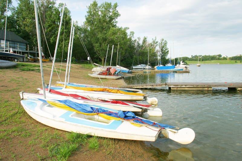 Small Sailboats Stock Photography