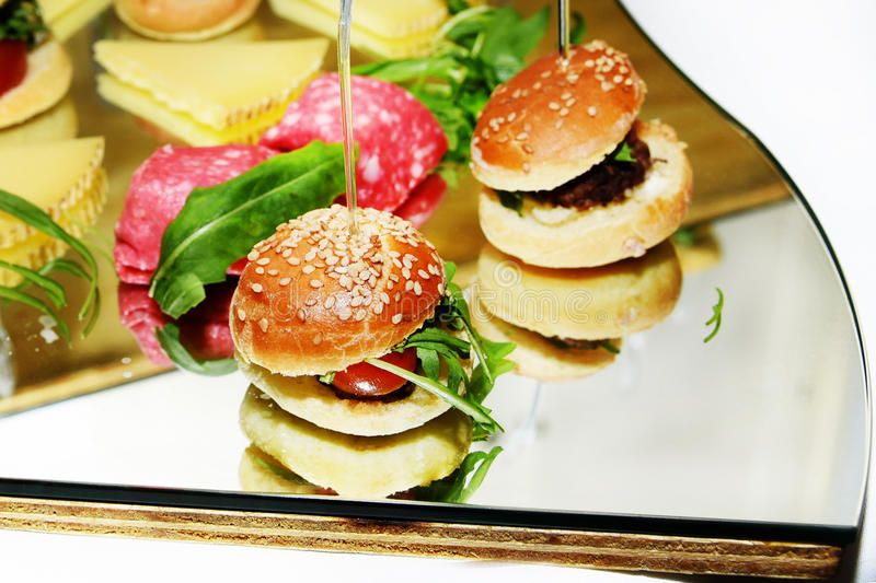 Small sandwiches royalty free stock photo