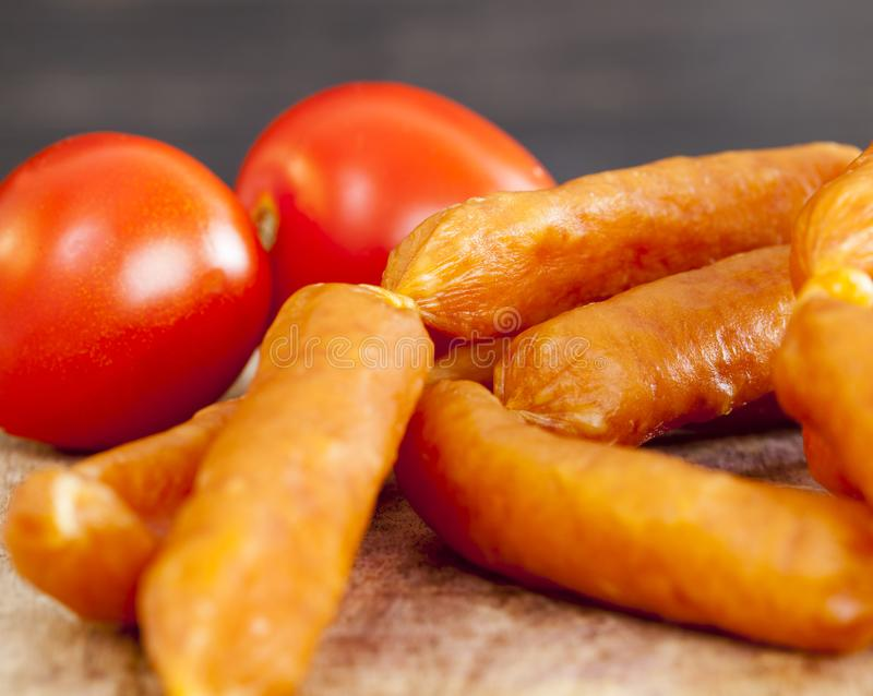 Small sausages royalty free stock photography