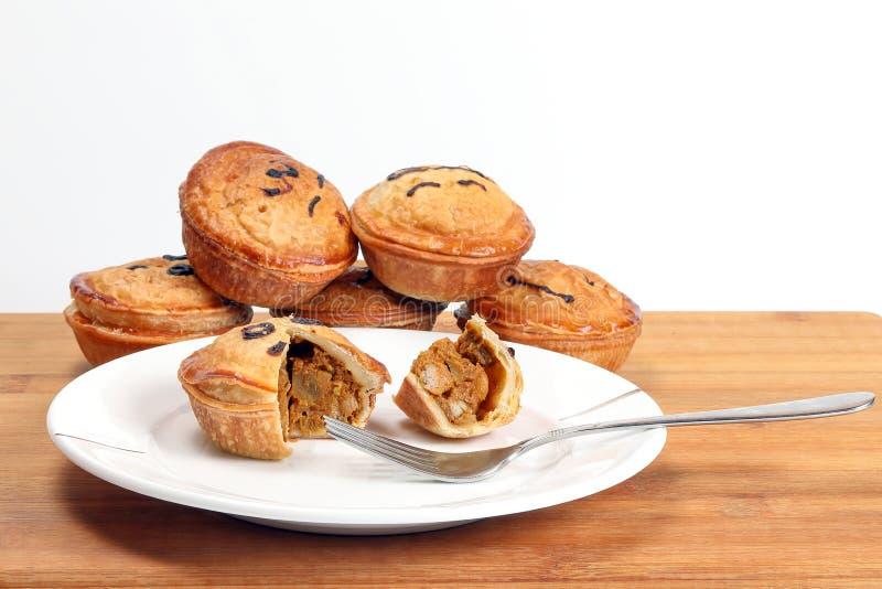 Small Savory Pie. Meat chicken beef mushroom stuffed stock photos