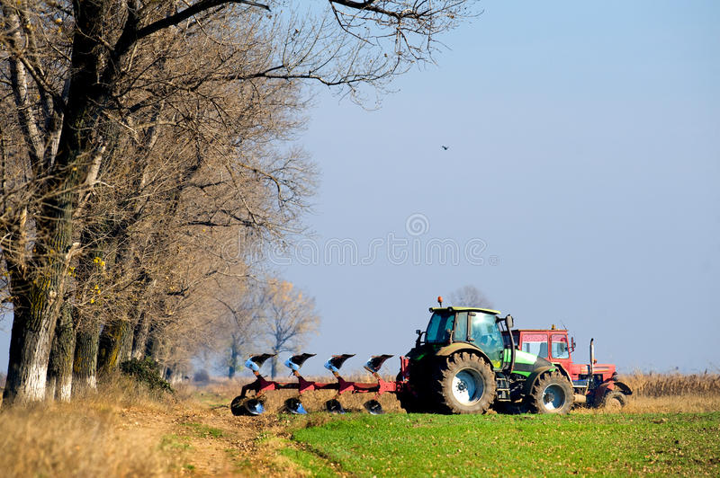 Download Small Scale Farming With Tractor Stock Image - Image of equipment, farming: 19376769