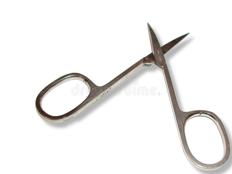 Small scissors royalty free stock photos