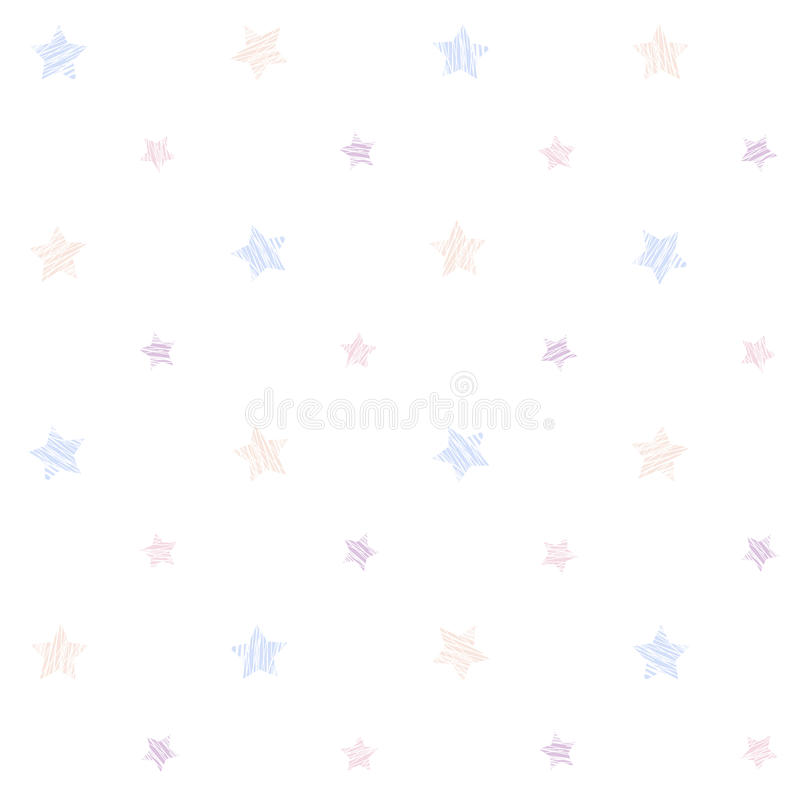 Download Small Scratched Stars Seamless Pattern Stock Vector