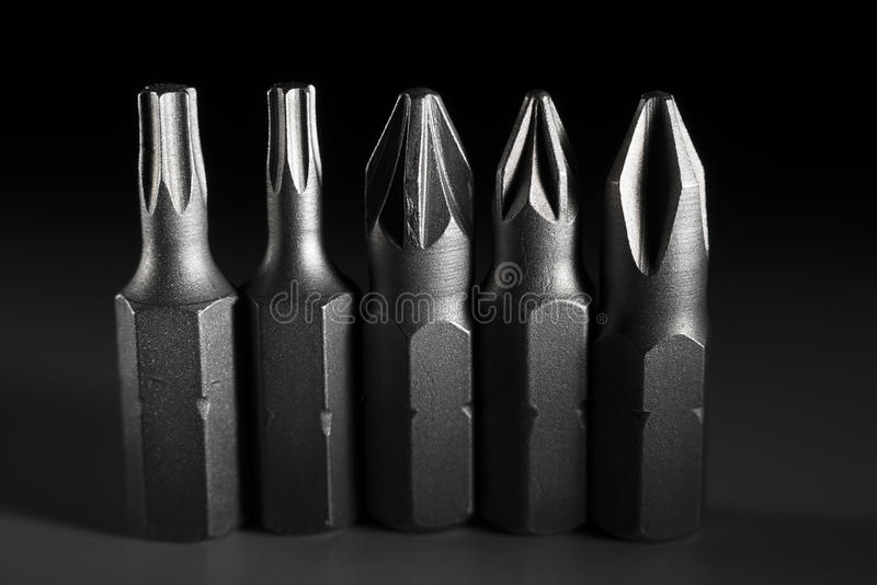 Small screwdriver set. Various screwdriver set,for construction,repair work themes stock photos