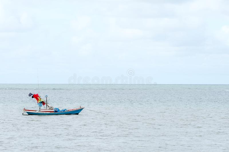 Small sea ship for fishing in Thailand. Small sea ship for fishing at sea in thailand royalty free stock image