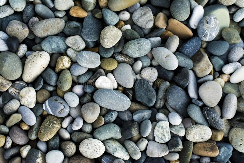 Small sea stones, gravel stock photos