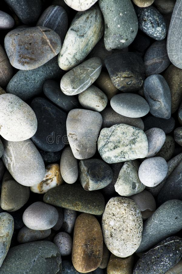 Small sea stones, gravel royalty free stock images