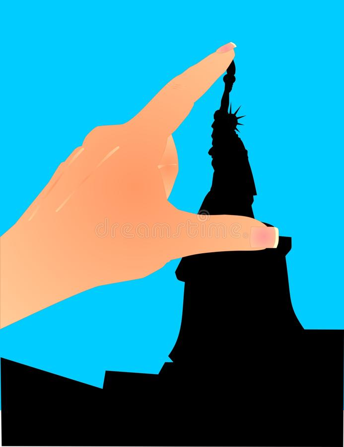 Download It Is Small... See Between My Fingers!! Stock Vector - Illustration of liberty, silhouette: 12360309