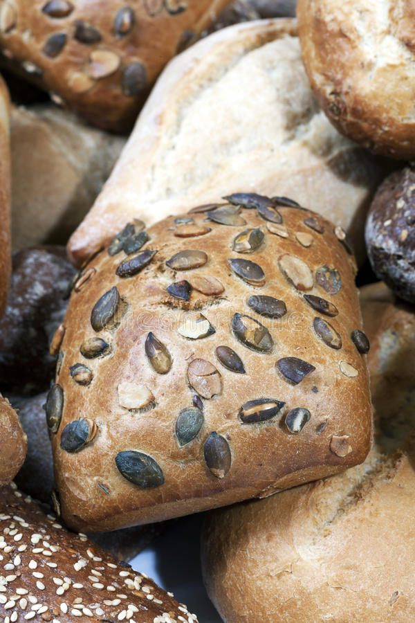 Small Seeded Bread Loaves Stock Image
