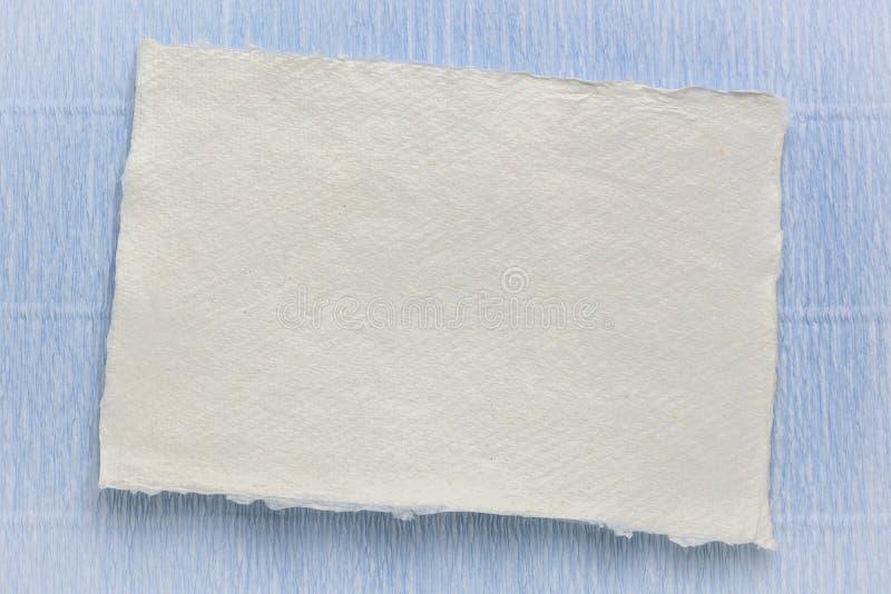 Sheet of white Khadi rag paper stock photos