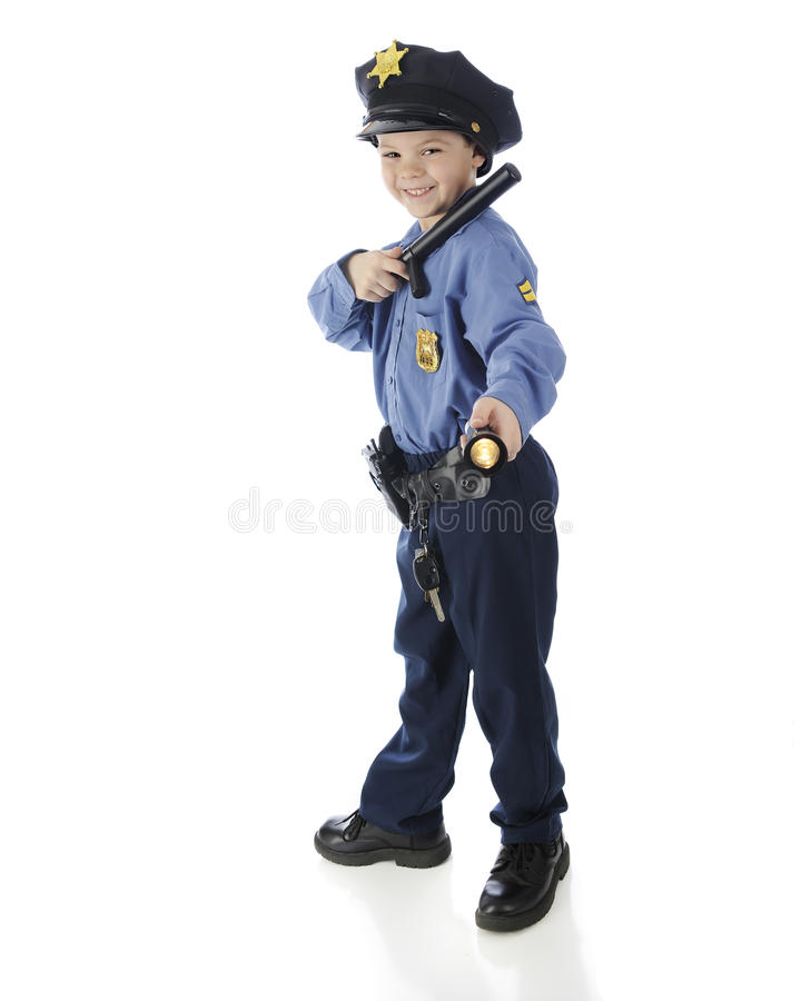 Small Shining Police royalty free stock images