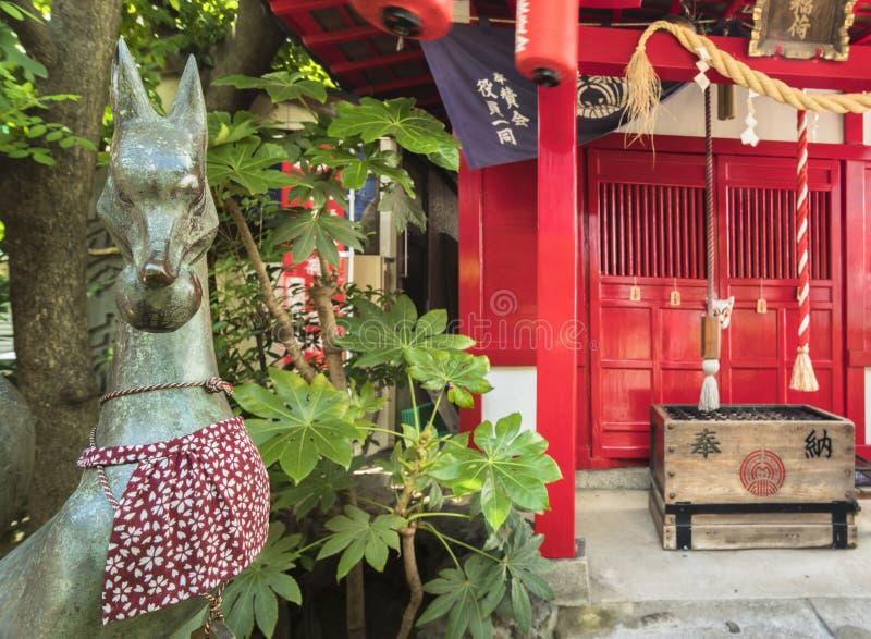Small Shinto Shozoku Inari Shrine dedicated to the Uga-no-Mitama divinity me. Small Shinto Santuary dedicated to the Uga-no-Mitama divinity meaning `the spirit stock images