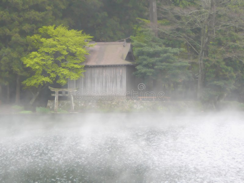 Small Shinto Shrine in Kyushu royalty free stock photos