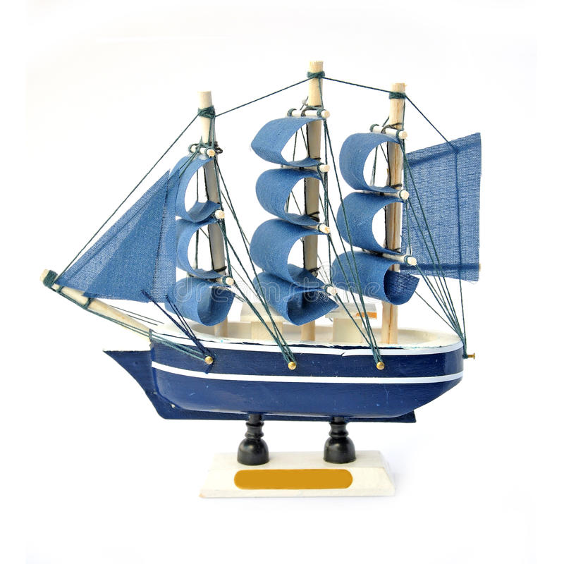Small ship isolated. On white background stock photo