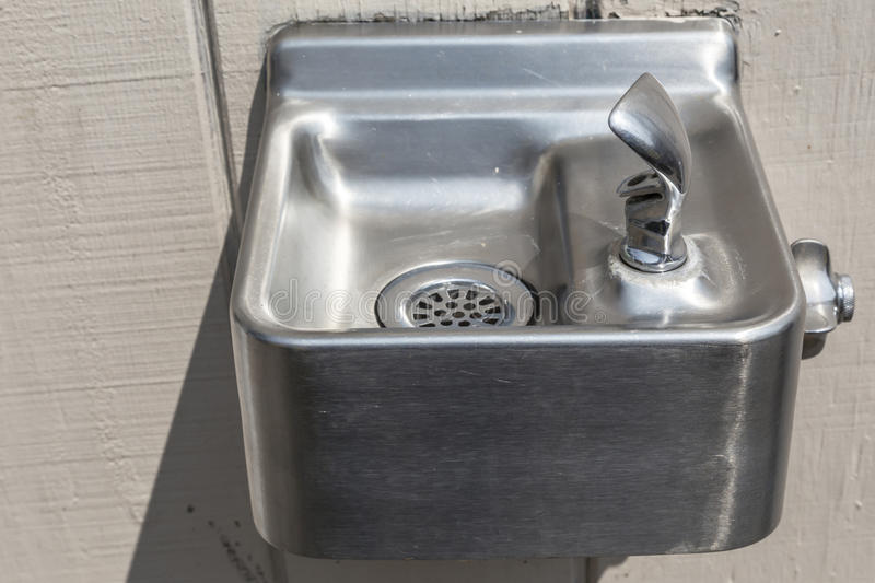 Small Silver Drinking Fountain royalty free stock photography