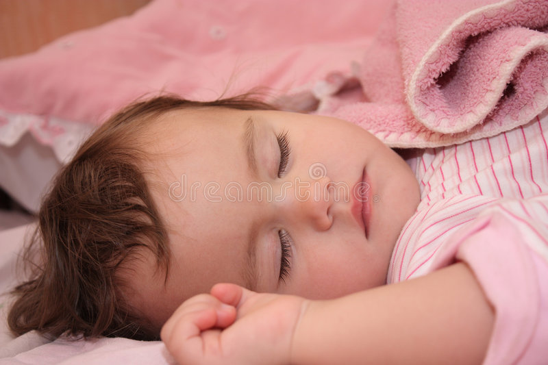 Download The small sleeping girl stock photo. Image of human, faces - 7347744