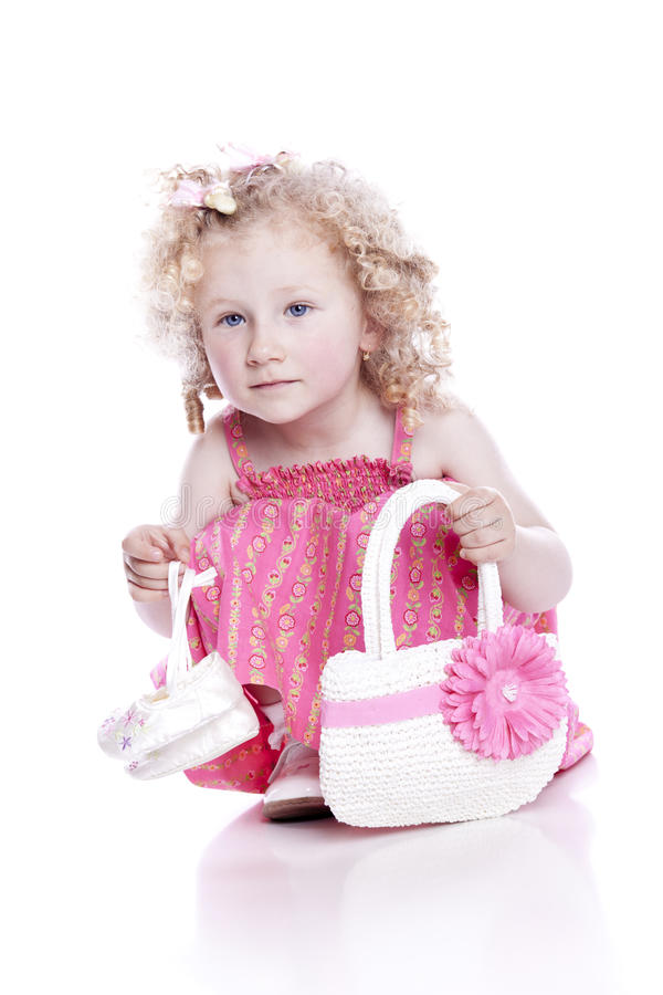 Download Small Smiling Baby In Pink Dress Stock Photo - Image: 15272436