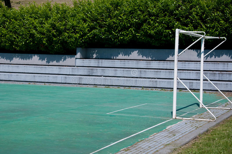 Small soccer field in sunny day in italy royalty free stock photos