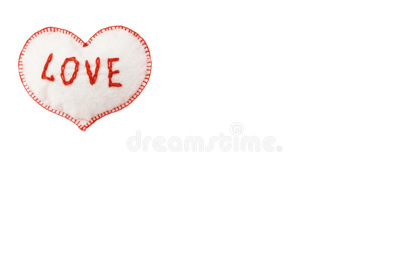 Heart for Valentine`s day on white isolated background royalty free stock images